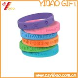 Wristband Infilled do silicone da tinta de Debossed (YB-LY-WR-02)