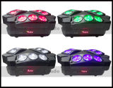 거미 Beam Light 9PCS 10W 4in1 Mini LED Moving Head Spider Light