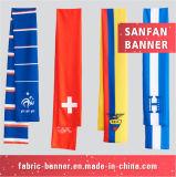 Zujubelnder Ventilator-Sport-Silk Satin-Drucken-Schal