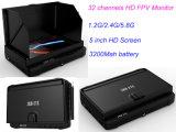 Fábrica monitor sin hilos de la pulgada mini DVR de 5.8g 32chs precio HD 5 ' con la visualización y la sombrilla del LCD