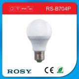 Luz de bulbo brilhante plástica do diodo emissor de luz da porcelana de E27 3W