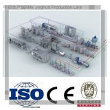 La planta de tratamiento de la leche de la almendra trabaja a máquina a carcelero
