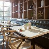 Tabella pranzante di marmo artificiale di superficie solida di Polisehd per sala da pranzo