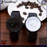 Yxl-715 Relógios feitos à medida Paidu Relógios de mesa giratórios Relógios de couro preto Relógio de quartzo casual