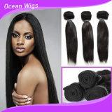 Человеческие волосы Weave прямых волос индийские реальные