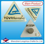 Kleines Decklack-Metallabzeichen mit Vergoldung-Firmenzeichen