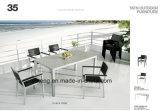 경쟁가격 Chair&Table (YT386)의 세트를 식사하는 최고 판매 옥외 정원 Aluminum+PS 나무로 되는 가구