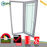 UPVC/Pvcu double modèle glacé de Windows et de portes pour la Chambre
