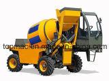 individu de 1.5m3 4X4 chargeant le camion diesel mobile de mélangeur concret