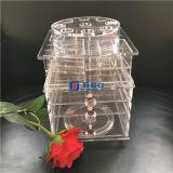 Banco di mostra acrilico girante del rossetto con il marchio