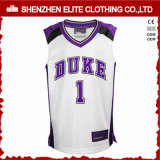 Homens OEM Custom Made Basketball Jerseys Bordados