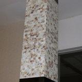 Lámpara de suelo derecha cuadrada del hotel del shell decorativo europeo de Natual