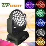 36PCS 18W RGBWA 6en1 UV LED de cabeza móvil LED de la colada de zoom