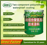 Enduit imperméable à l'eau deux Conponent de polyuréthane économique de la résistance aux intempéries