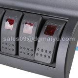 Wippenschalter-Panel-Marine-Schalter 6 der Gruppe-6 Schalter-roter LED Splashproof