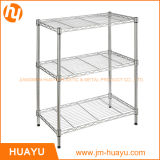 Justierbares 3-Tier Black/Silver/White Metal Frame Wire Rack