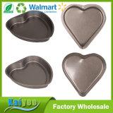 Non лоток торта формы сердца выпечки прессформы шоколада булочки олова ручки