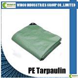 Tissus argentés de bâche de protection de polyéthylène, feuille de Tarps de PE, roulis de Tarps de PE pour le revêtement