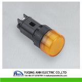 spia di formato LED del montaggio da 16 millimetri, verde della lampadina di segnalazione, colore rosso, bianco, lampada pilota gialla