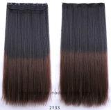 Estensione lunga dei capelli della parrucca dei capelli diritti dei capelli delle clip di pendenza cinque