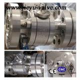 API الفولاذ المقاوم للصدأ CF8 / CF8M / CF3m حواف الكرة صمام
