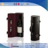 1 transporteur en cuir commode de vin de bouteille avec le cadre de courroie d'épaule
