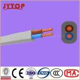 Zwilling flach mit Massen-Kabel, 6242y BS6004 kupferner Draht, Kurbelgehäuse-Belüftung isoliert, Flachkabel mit kupfernem Leiter