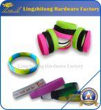 Braccialetto su ordinazione della gomma del commercio all'ingrosso del Wristband del silicone