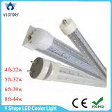 SMD2835 Chips 6FT 39W V Shape Intégré T8 LED Tube Light