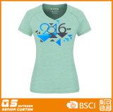 Camisa da forma T do Melange das mulheres