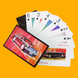 A ponte carda o póquer de papel do plástico do póquer do tamanho