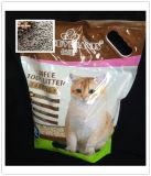 Tofu, der Eco und Gesundheits-Katze-Sänfte aufhäuft