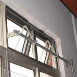 Ventana de aluminio del toldo del perfil del color gris revestido del polvo de la alta calidad con la maneta inestable Kz307