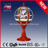 Merletto Decoration Red Festival Tabletop Lamp con il Babbo Natale