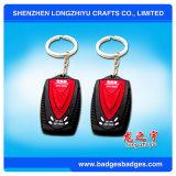 PVC alla moda Keychain, 3D poco costoso su ordinazione Keychain