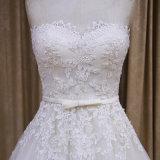 Gekräuselten Hochzeits-Kleider der Prinzessin-Cut