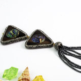 Abalone van Paua Shell van de Charmes van de Juwelen van de manier de Halsband van de Tegenhanger van de Halfedelsteen