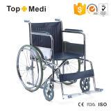 Гуанчжоу Topmedi складывая экономичную ручную стальную кресло-коляску