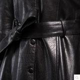 黒く新しいデザイン方法本物の純粋な革のジャケット