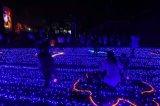 LED 크리스마스 훈장 당 그물 커튼 폭포 빛