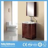 Vanidad americana del cuarto de baño de madera sólida del compacto del estilo con la cabina del espejo (BV204W)