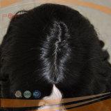 Парик женщин верхней части кожи типа волны естественных человеческих волос курчавый