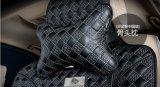 Чернота китайского узла формы косточки подушки шеи заголовника автомобиля Картин-Золотистая