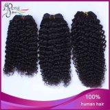 O cabelo brasileiro do Virgin tece negócios do pacote, Curly brasileiro da extensão do cabelo humano de 100%