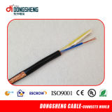 20AWG Bc 95%CCA Braiding Rg59 Coaxial siamese Cable