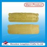 Mourir la plaque faite sur commande de marque en métal d'émail de gravure de moulage