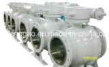 De alta presión de acero inoxidable montado en la válvula de bola del muñón