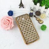 Luxus galvanisiert weichen TPU Telefon-Kasten des Diamant-für Fahrwerk
