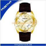 ビジネス服Quartzsはメンズ女性用腕時計のために標準的な腕時計を見る