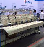 Máquina misturada computarizada 6 cabeças do bordado para tampões do t-shirt